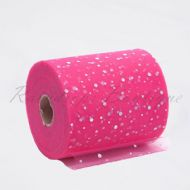 Hot Pink Sequin Tulle Roll